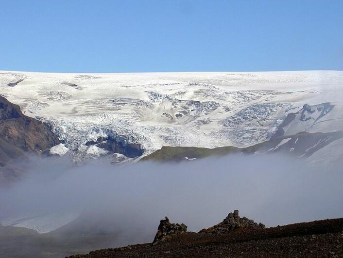 Vulkanen sover: Myrdalsjökull-breen over Katla-vulkanen på Island. (Foto: Chris 73, Creative Commons Attribution-Share Alike 3.0 Unported)