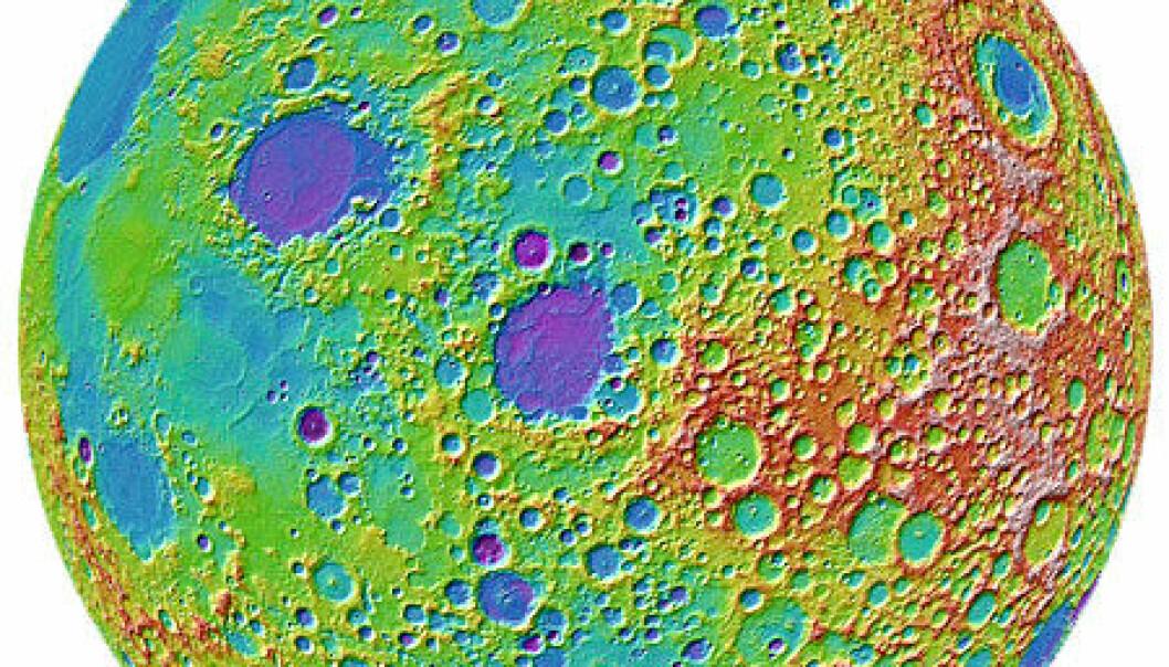 Månekratre forteller om meteorstormer