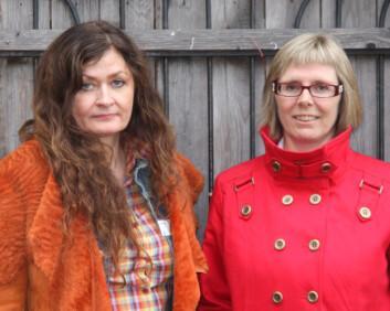 Britt Kramvig (til venstre) og Anne-Britt Flemmen. (Foto: Stine Bøe)