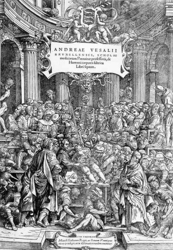 """De humani corpores fabrica libri septem kom som en åpenbaring i 1543."""