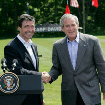 George Bush og Anders Fogh Rasmussen i 2006. (Foto: The White House)