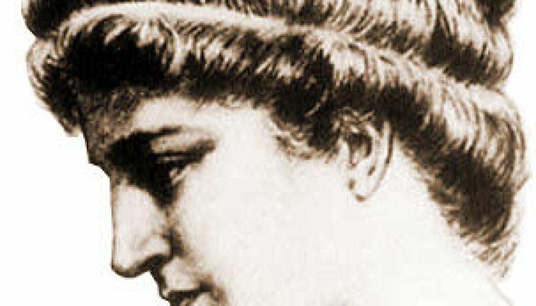 Hypatia, ifølge kunstneren Gasparo. (Wikimedia Commons)