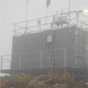 Birkenesobservatoriet i tåke