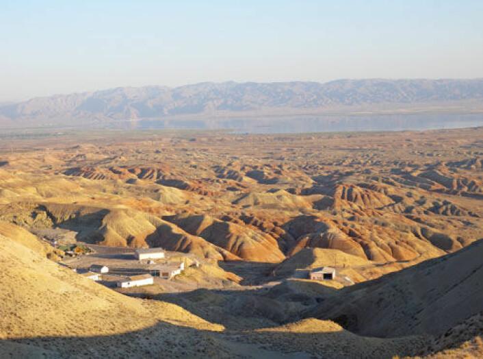 Bildet viser landskapet ved Duzdagi og inngangen til den moderne saltgruven. (Foto: Séverine Sanz, CNRS)