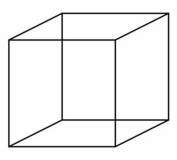 """""""Forskerne skriver at VFA-fenomenet også gjør at synsbedraget Neckers Terning kan være forvirrende. (Illustrasjon: BenFrantzDale/Wikimedia Commons)"""""""