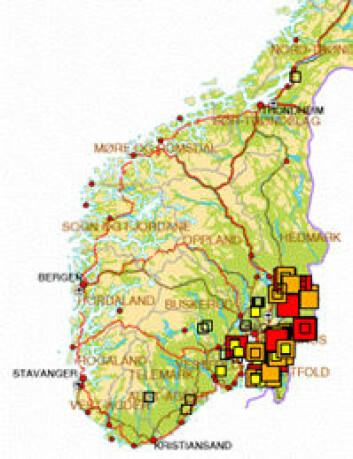 På www.flattogflue.nokan du se hvor hjortelusflua og flått er registrert på ville hjortedyr.