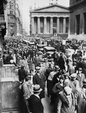 """*Black Tuesday* 29. oktober 1929"""