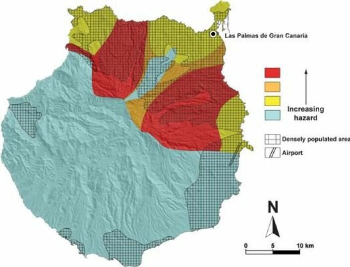 Las Palmas' knappe 400.000 innbyggere bor i en sone med økt risiko for vulkansk aktivitet. (Illustrasjon: Alejandro Rodríguez-González)