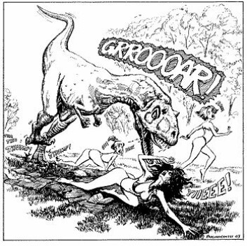 """""""Dette illustrerer en av forskjellene mellom reptiler og pattedyr. (Tegning: Bogdan Bocianowski)"""""""