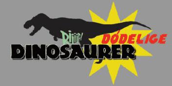 """""""Logoen til dinosaurutstillingen ved Zoologisk museum i Oslo, inspirert av gamle dinosaurskrekkfilmer."""""""