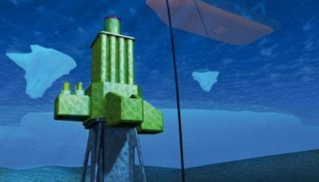 3D-modell av den robotiserte, fjernstyrte boreinnstallasjonen.