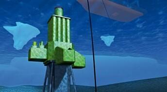 Borende robot på havets bunn
