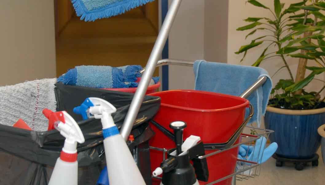 Normalt regelmessig renhold er nødvendig for å få et godt inneklima. (Foto: Morten Stene)