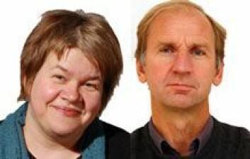 Fafo-forskerne Line Eldring og Jon Erik Dølvik.