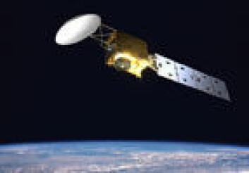 Illustrasjon av forskningssatellitten EarthCare som skytes opp i 2013.