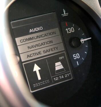 Eksempel på AIDE-instrumentering i prototyp fra bilfabrikken SEAT