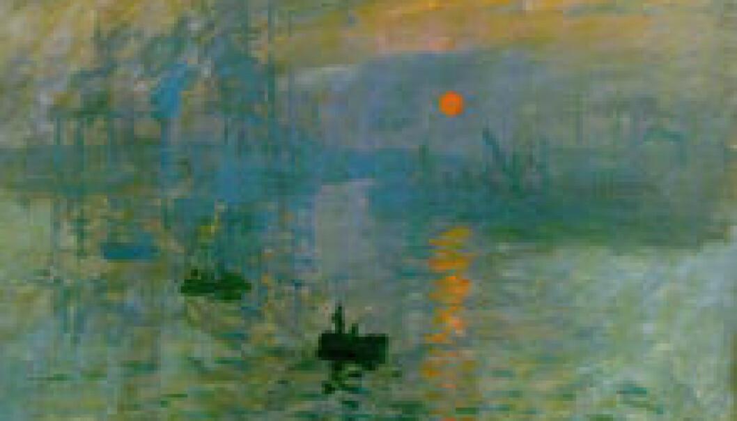 """""""Monets maleri Impression Sunrise fra 1872 gav navn til impresjonistbevegelsen."""""""