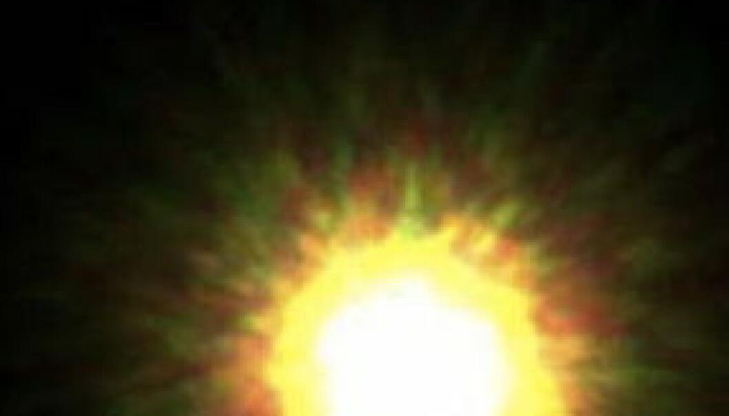 Unikt blinkskudd i verdensrommet