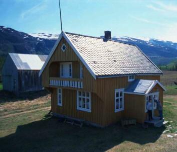 """""""Kvengården på Tørfosstunet i Reisadalen like nedenfor Sappen. (Foto: Nord-Troms Museum)"""""""