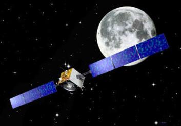 """""""Sonden skal bruke 16 måneder på å komme seg inn i bane rundt Månen. (Illustrasjon: ESA)"""""""