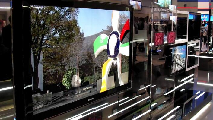 82-tommers LCD med oppløsning 3840 x 2160 piksler, bedre enn 4K digitalkino