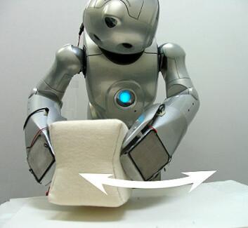 Enkle, men sammensatte oppgaver: Roboten beveger en kloss fra side til side (Foto: Yuchi Yamashita)