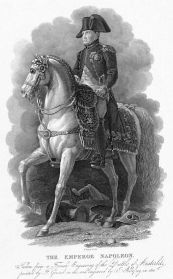 """""""Hvite hester har fascinert mennesker over hele verden i århundrer. Her ser vi Napoleon Bonaparte på sin hvite hest. Illustrasjon: www.clipart.com"""""""