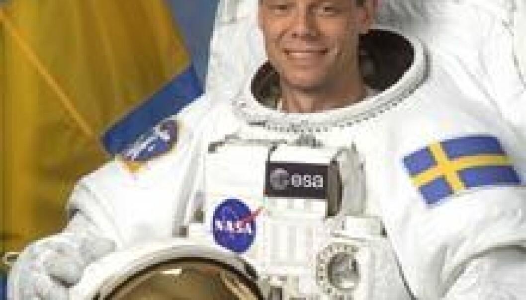 Christer Fuglesang, den europeiske romorganisasjonen ESAs svenske astronaut, får en ny tur i rommet. Foto: NASA