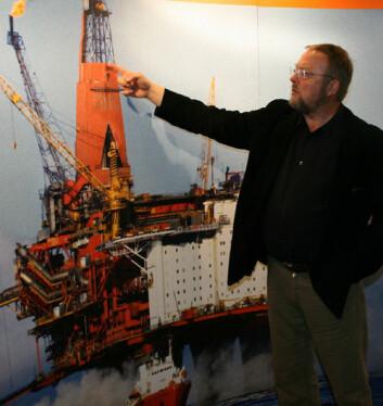 FRAS technology og Sølve Fjerdingstad har blant annet Sleipner-plattformen som arbeidsområde. (Foto: Trond Solem)