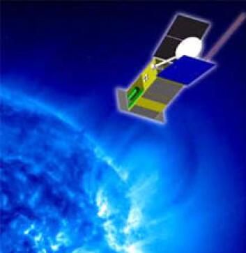 """""""Solar Orbiter er den europeiske romorganisasjonen ESAs nye solsonde. Den skal gå nærmere sola enn det andre romsonder har gjort før. Oppskytningen er planlagt til 2015. (Illustrasjon: ESA)"""""""