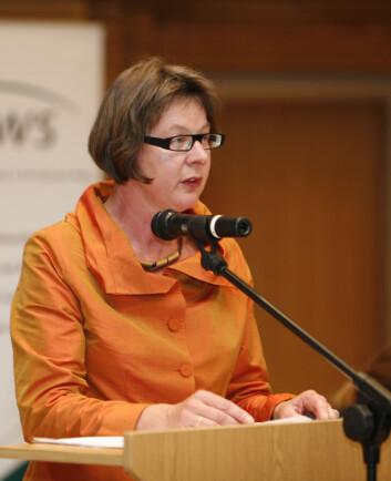 Mineke Bosch på konferansen i Vilnius.