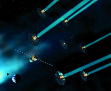 """""""Darwin skal sendes opp av ESA rundt 2005, og skal være em flåte av seks teleskoper."""""""