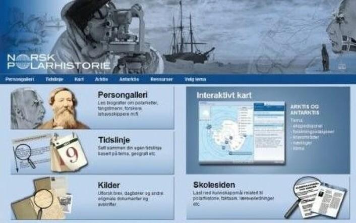 """""""Forsiden til polarhistorie.no."""""""