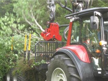 Uttak av biomasse til bioenergi. (Foto: Helmer Belbo, Skog og landskap)