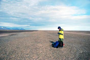 Denne strandvollen på Nord-Grønland er dannet ved bølgeaktivitet for cirka 6000-7000 år siden, fastslår forskerne. Det tyder på at det var mer åpent hav i området enn i dag. (Foto: Astrid Lyså/NGU)