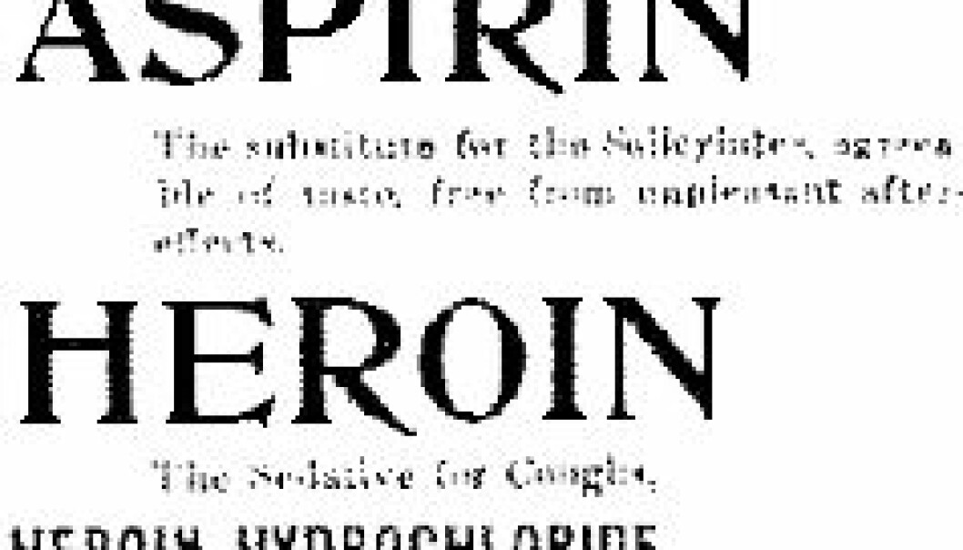 """Slik reklamerte Bayer for heroin og aspirin i USA i 1897."""