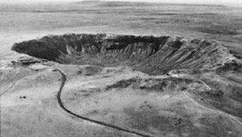 """""""En relativt liten katastrofe. Dette krateret fra Nord-Arizona er bare 50 000 år gammelt. Meteoritten forårsaket ingen større katastrofe."""""""