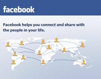 Slik presenteres nettstedet Facebook. (Faksimile)