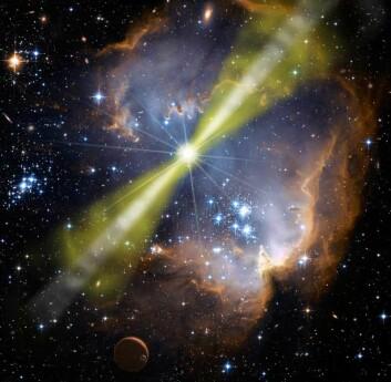 (Foto: NASA/Swift/Mary Pat Hrybyk-Keith and John Jones)