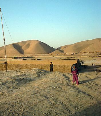 På dette stedet i Farjab-provinsen holdt forskerne seminar med lokalbefolkningen. (Foto: Aslaug Gotehus)