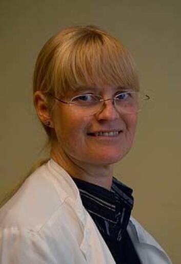 Overlege Susanne Albrechtsen har utført undersøkelsen. (Foto: Linda Hilland, Helse Bergen)