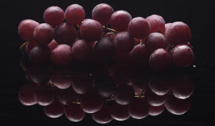 """""""Studien tyder på at druer er naturens egen hjertemedisin. De forhindrer både høyt blodtrykk, hjerteproblemer og kroniske betennelser i kroppen. I hvert fall hos rotter... (Foto: Colourbox.com)"""""""
