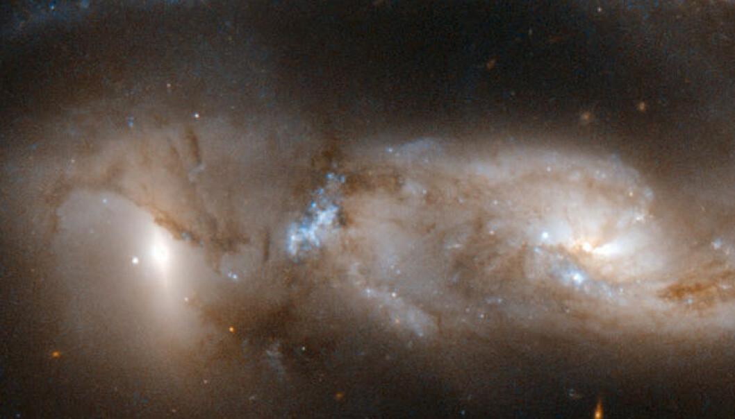 Galaksene krasjer - se bildene