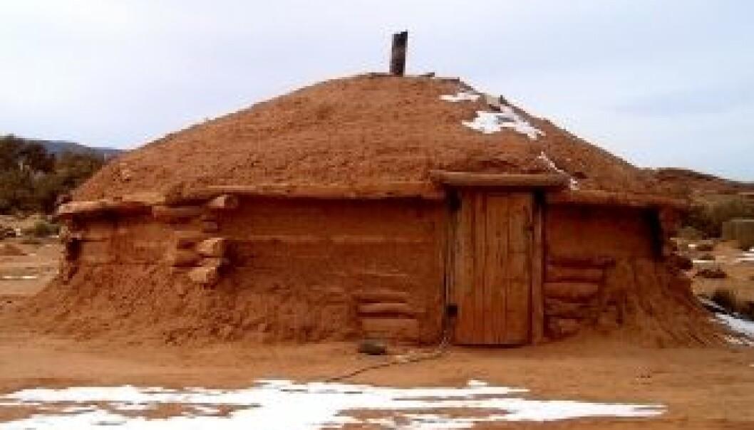 """Navajo-hytte. (Foto: iStockphoto)"""