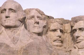 """""""Ikke mye gjesping blant de amerikanske presidentene på Mount Rushmore..."""""""