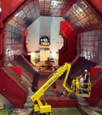 Denne enorme magneten skal benyttes til ALICE-eksperimentet ved CERN. (Foto: CERN)