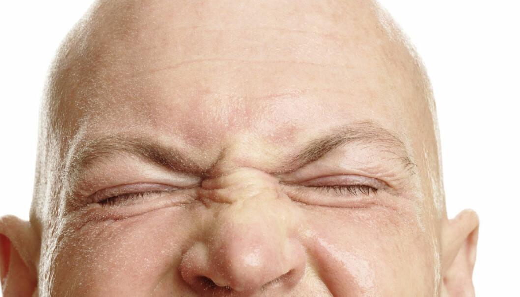 Håret kan forsvinne i løse luften