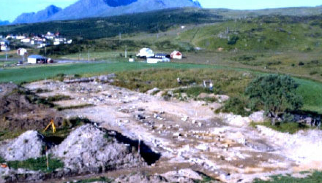 """""""Fra utgravingene på Borg. (Foto: Tromsø Museum)"""""""