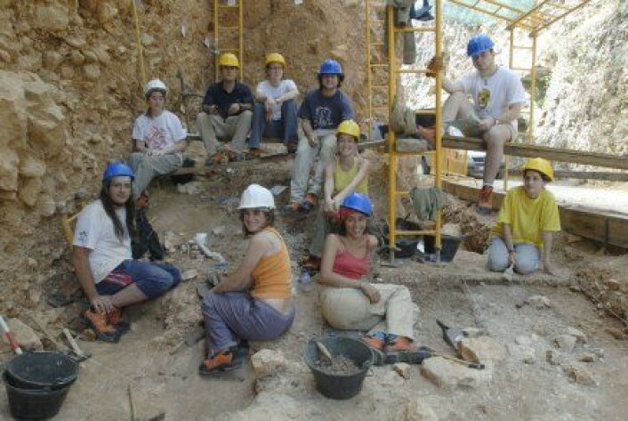 """Utgravingsgruppa. (Foto EIA/Jordi Mestre)"""