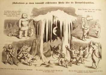 """""""Harselas over ekspedisjonens opphold i isen fra satirebladet Figaro, publisert i 1874."""""""